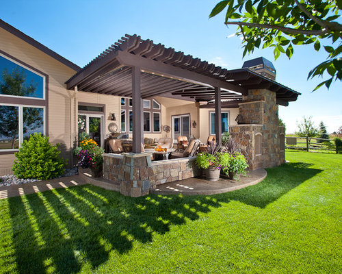 SaveEmail - Patio With Pergola Ideas, Pictures, Remodel And Decor