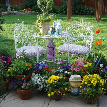 Colorful Container Garden on the Patio