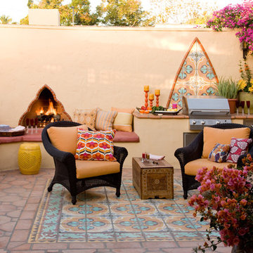 Colorful Moroccan outdoor living