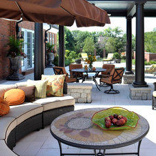 Eclectic Patio by Savvy Surrounding Style
