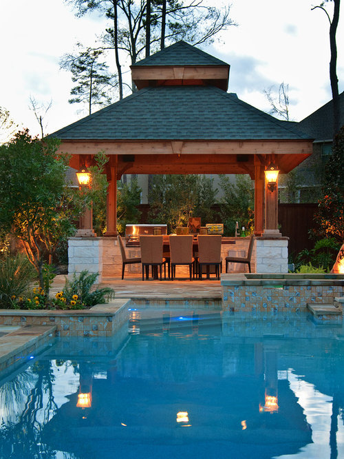 Poolside gazebo home design ideas pictures remodel and decor for Pool design with gazebo