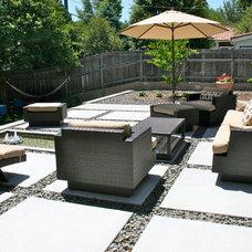 Modern Patio by Bloom Concrete & Landscape