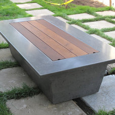 Craftsman Patio by Wells Concrete Works