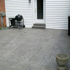 Stamped Concrete Multi Level Decking Traditional