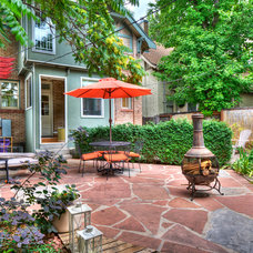 Eclectic Patio by Heather Truhan Live Urban Real Estate