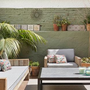Conjunto de estar, sofá, butaca y mesa de centro para exterior