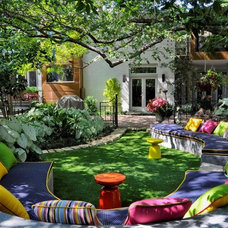 Eclectic Patio by Conservation Grass