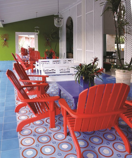Contemporary Patio by Avente Tile