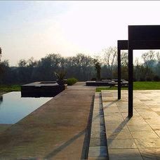 Contemporary Patio by Westfall Design Studio