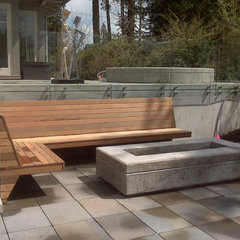 contemporary patio by KMZ Landscape Design