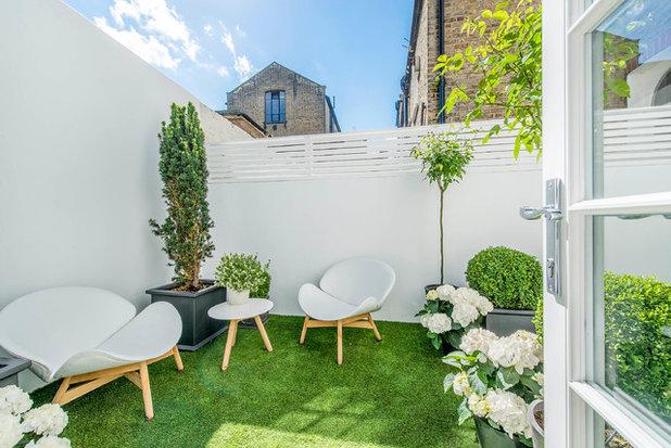 So verschönern Sie mit einem Farbanstrich kleine Gärten
