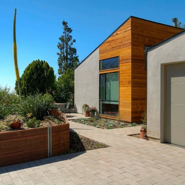 Contemporary Home Complimented By Plank Pavers - VIEW 2