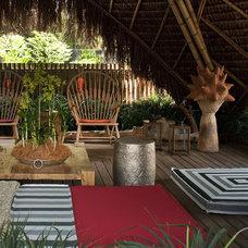 Tropical Patio Contemporary Hut