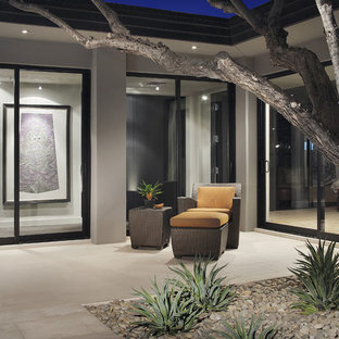 Example of a trendy patio design in Phoenix with no cover