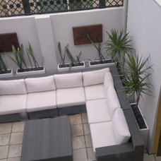 Contemporary Patio by despina design