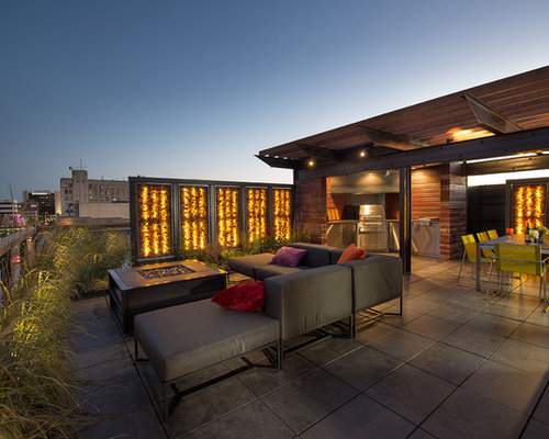Example Of A Trendy Patio Design In Other