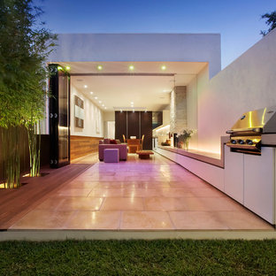 This is an example of a small contemporary backyard patio in Melbourne.