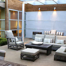 Contemporary Patio by SLIC Interiors