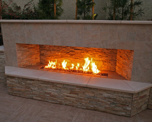 Outdoor Gas Fireplace Home Design Ideas Pictures Remodel