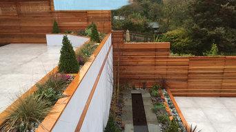 Contemporary Patio - Terraced