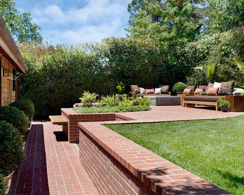 Two Tiered Backyard | Houzz on Tiered Yard Ideas id=61253