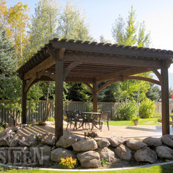 Entertainment Size Pergolas - Western Timber Frame freestanding