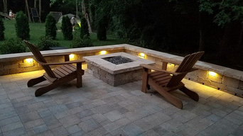 Contemporary Patio with FIrepit
