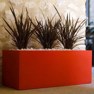 Contemporary Rectangular Indoor-Outdoor Planter