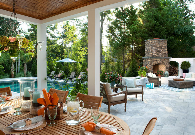 Beach Style Patio by Tongue & Groove