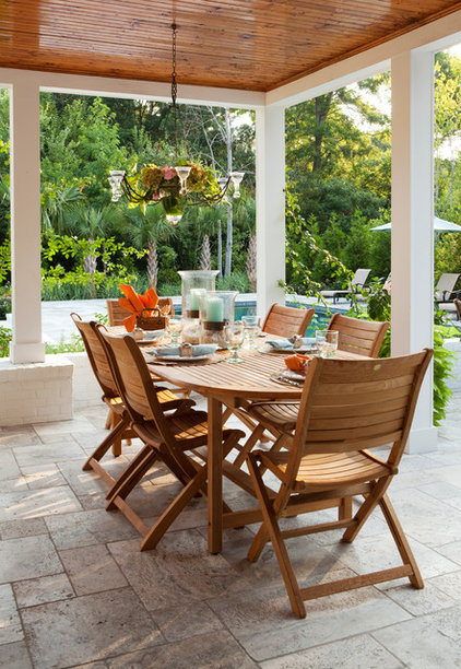 Traditional Patio by Tongue & Groove