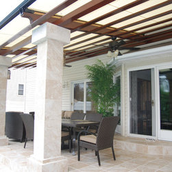 Cooler Deck Retractable Pergola Roof by Breslow Home Design - Retractable Pergola by Breslow.