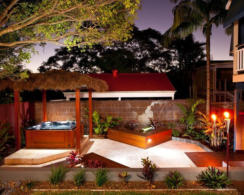 Outdoor spa home design ideas pictures remodel and decor for Outdoor spa decorating ideas