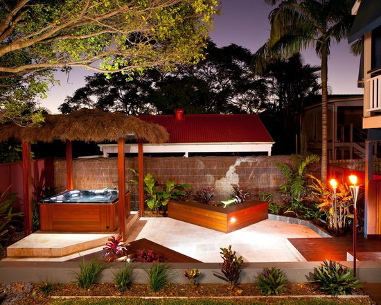 above ground spa patio design ideas, remodels & photos | houzz - Spa Patio Ideas