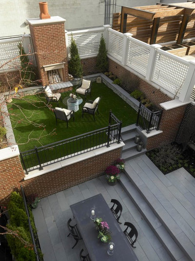 Traditional Patio by Burns and Beyerl Architects