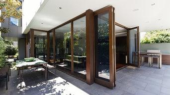 Corona Del Mar Contemporary Bi-Fold Patio Doors