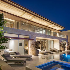 Contemporary Patio by Rosemarie Allaire Lighting Design