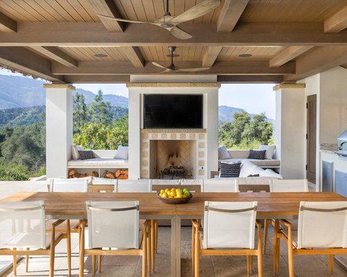 Inspiration For A Mediterranean Backyard Patio Kitchen Remodel In Santa  Barbara