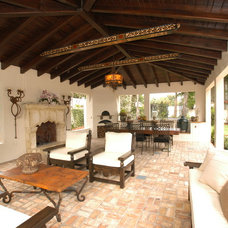 Mediterranean Patio by Lamar Design