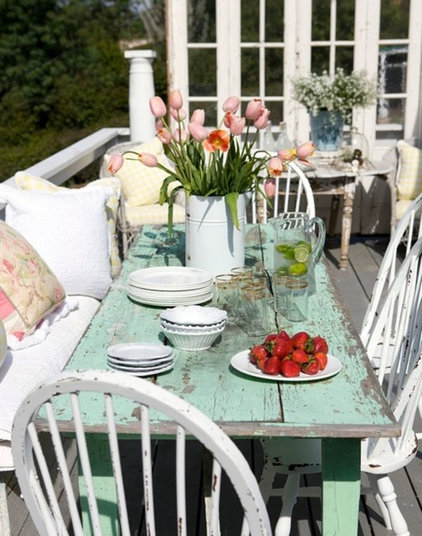 Eclectic Patio by tumbleweed and dandelion.com