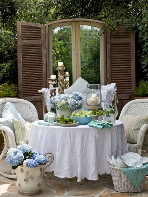 Shabby Chic Cottage Decorating Patio Design Ideas ... on Chic Patio Ideas id=79396