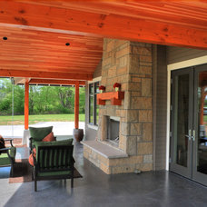Traditional Patio by Haven Design Workshop