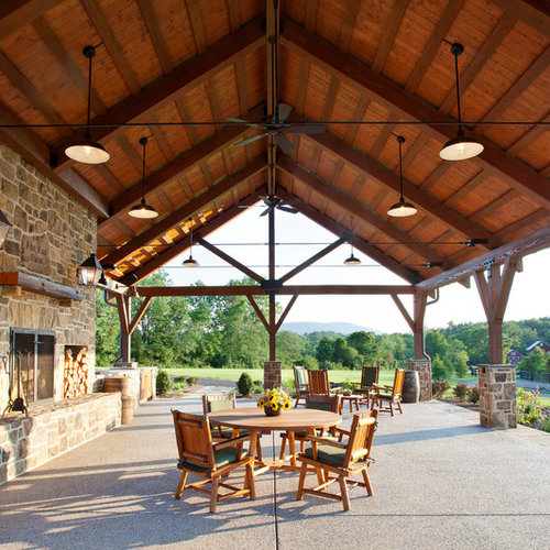 Elegant Country Patio Photo In DC Metro With A Fire Pit