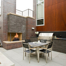 Contemporary Patio by FRICANO CONSTRUCTION CO