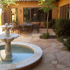 Mediterranean Patio by Arterra Landscape Architects