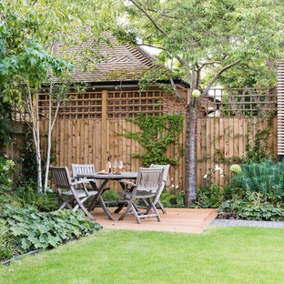 Photo of a traditional patio in Hertfordshire with no cover.