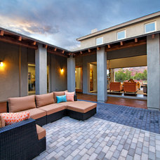 Transitional Patio by Dorn Homes
