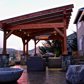 Covered patio structures