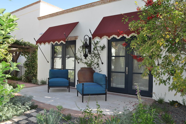 Mediterranean Courtyard by Exteriors By Chad Robert