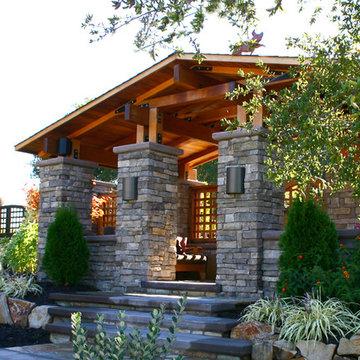 Craftsman style gatehouse
