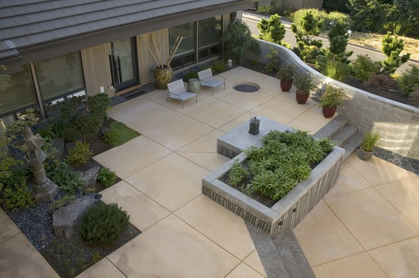 5 simple tweaks for a more beautiful concrete patio for Contemporary garden patio designs